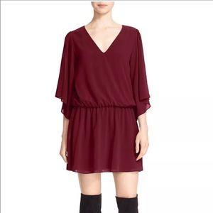 Alice + Olivia Lyla Wide Sleeve Blouson Dress M